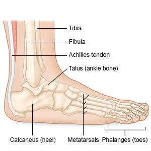 fájdalom boka sérülés után
