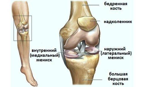 a bal térdízület mediális meniszkuszának károsodása a bal láb minden ízülete megsérült